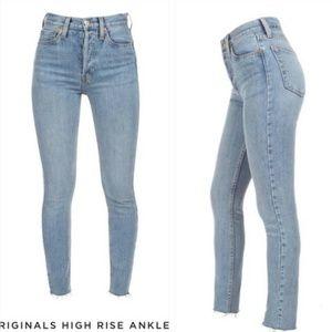 Redone Original High Rise Skinny Stretch